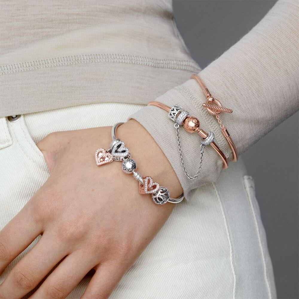 Silver Charm Bangle Bracelet   Sterling silver   Pandora Canada