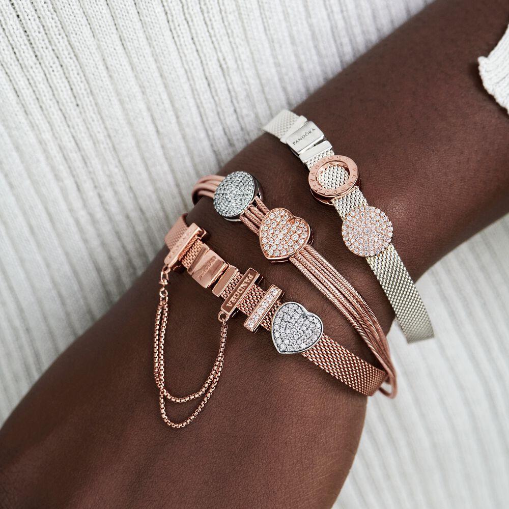 Pandora Reflexions Mesh Bracelet | Rose gold plated | Pandora Canada