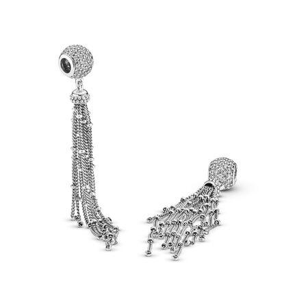 Charm pendentif Pampille enchantée, cz incolore