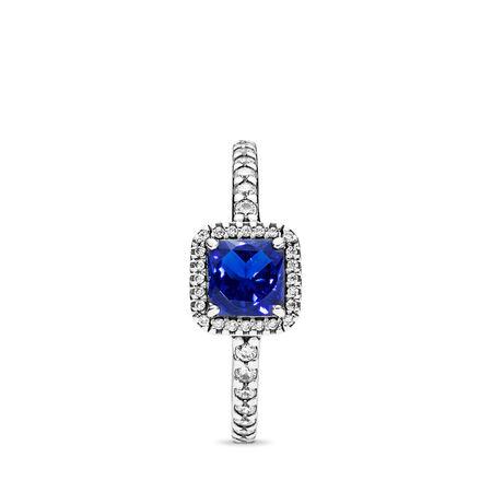 Éternelle élégance, cristal bleu pur et cz incolore, Argent sterling, Aucun autre matériel, Bleu, Pierres mélangées - PANDORA - #190947NBT