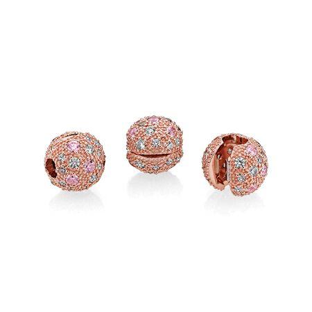 Cosmic Stars, PANDORA Rose™ & Pink, Clear CZ