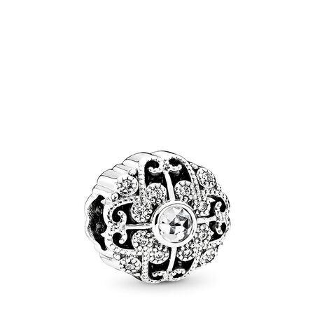 Fairytale Bloom, Clear CZ, Sterling silver, Cubic Zirconia - PANDORA - #791961CZ