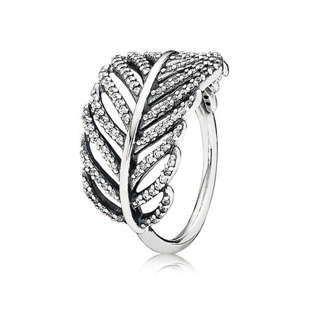 Light As A Feather Ring, Clear CZ, Sterling silver, Cubic Zirconia - PANDORA - #190886CZ