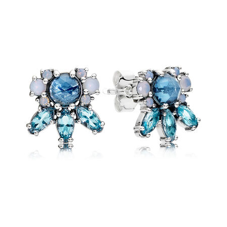 Traces de givre, cristaux multicolores, Argent sterling, Aucun autre matériel, Bleu, Cristal - PANDORA - #290731NMBMX