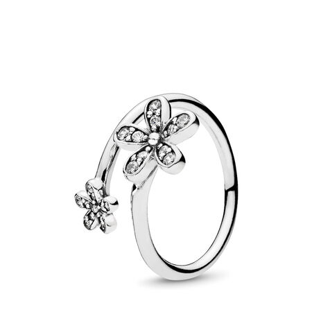 Dazzling Daisies, Clear CZ, Sterling silver, Cubic Zirconia - PANDORA - #191038CZ-50