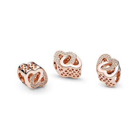 Entwined Love, PANDORA Rose™ & Clear CZ, PANDORA Rose, Cubic Zirconia - PANDORA - #781880CZ