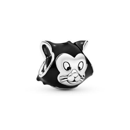 Disney, Figaro Portrait Charm, Black Enamel