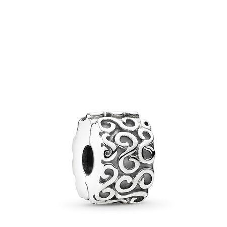 S Clip, Sterling silver - PANDORA - #790338