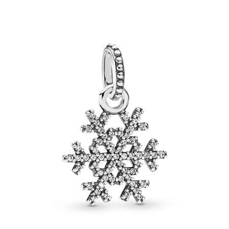 Flocon de neige, cz incolore, Argent sterling, Aucun autre matériel, Aucune couleur, Zircon cubique - PANDORA - #390354CZ