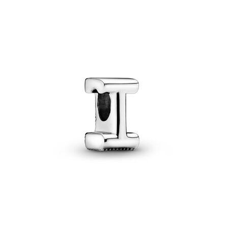 Letter I Charm, Sterling silver - PANDORA - #797463