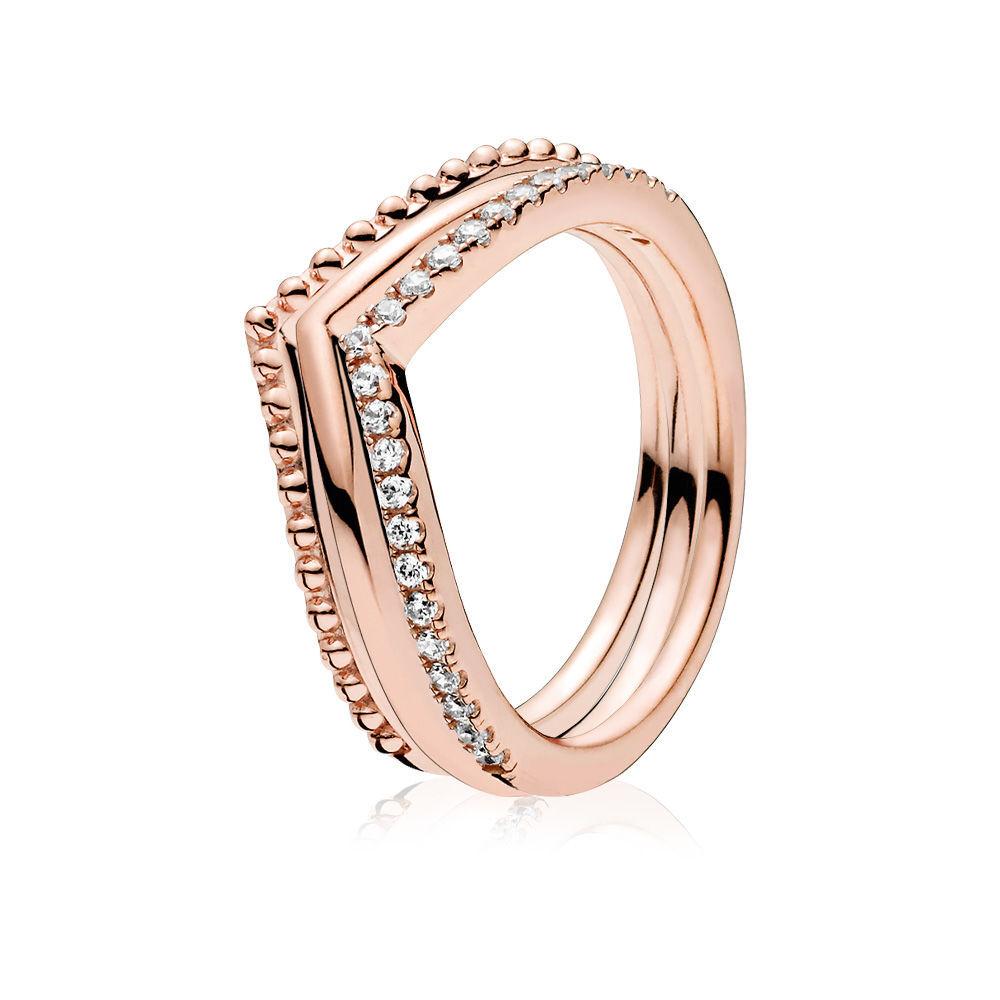 03760c245 Pandora Rose™ Wishbone Ring Stack