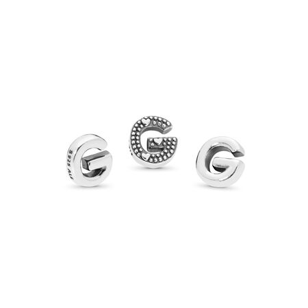 Letter G Petite Charm, Sterling silver - PANDORA - #797325