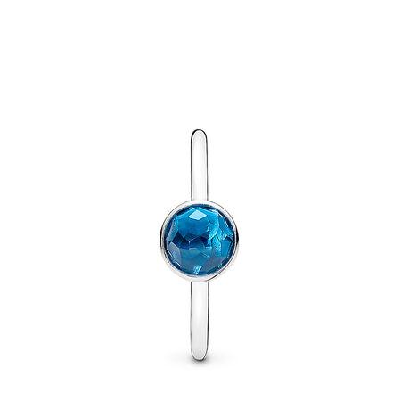 Gouttelette de décembre, cristal bleu de Londres