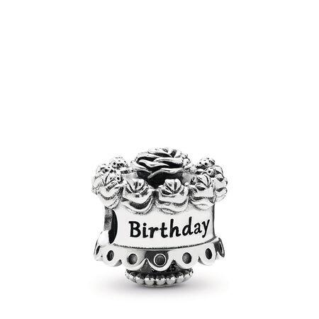 Happy Birthday Silver Charm, Sterling silver - PANDORA - #791289