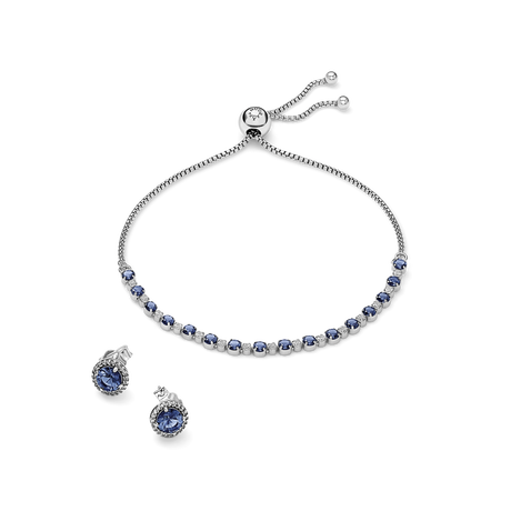 Holiday Blue Sparkle Gift Set