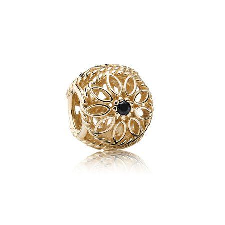 Delicate Beauty, Black Spinel & 14K Gold