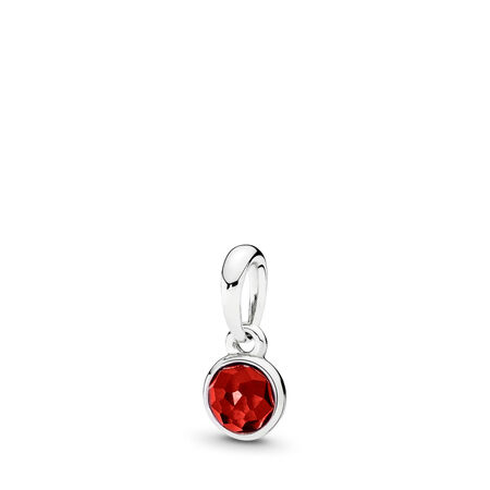 July Droplet, Synthetic Ruby, Sterling silver, Red, Synthetic Ruby - PANDORA - #390396SRU
