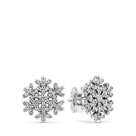 Snowflake, Clear CZ, Sterling silver, Cubic Zirconia - PANDORA - #290589CZ