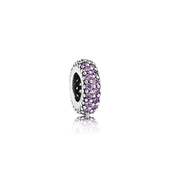 Inspiration Within Spacer, Purple CZ