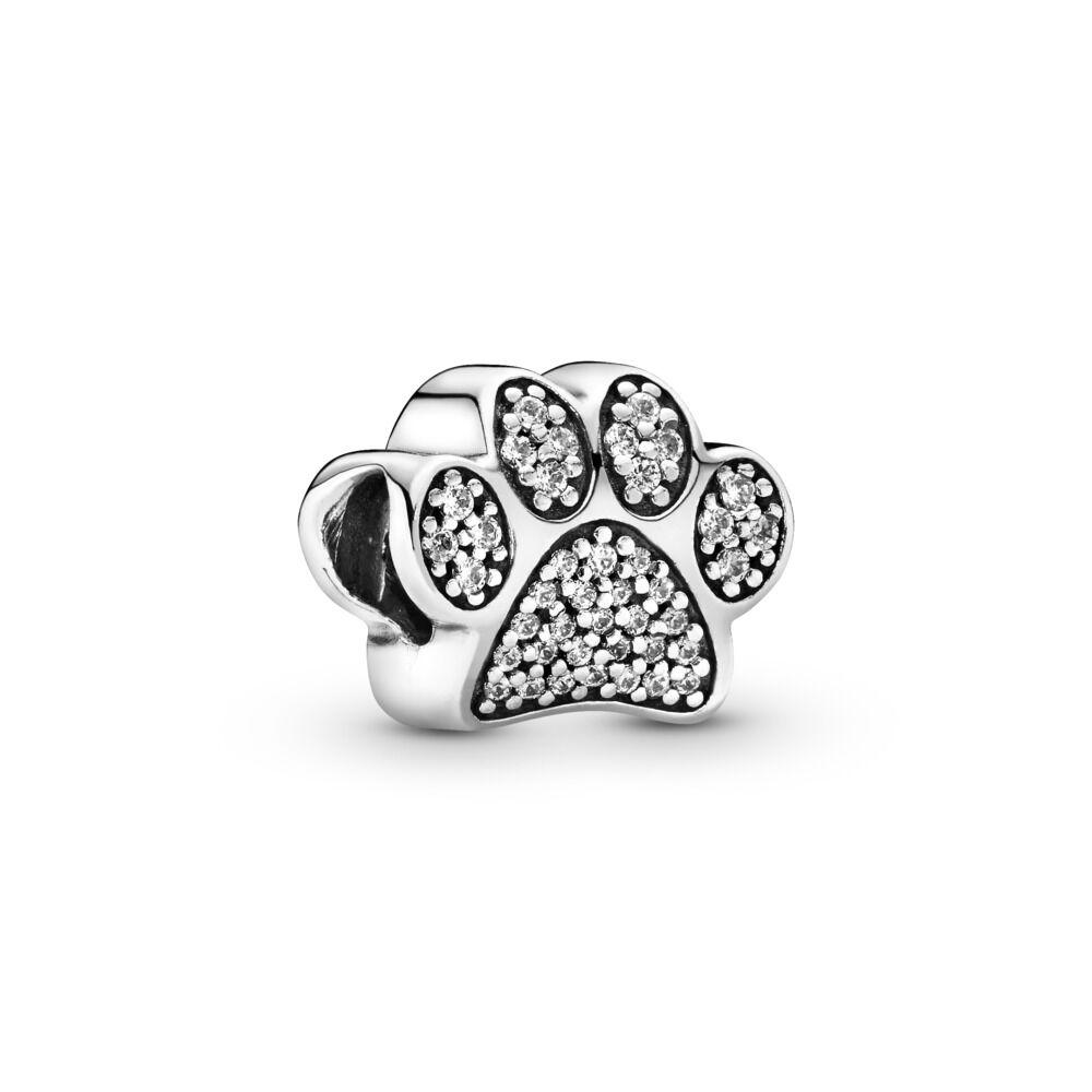 a0d33b1ec Sparkling Paw Print Charm, Sterling silver, Cubic Zirconia - PANDORA -  #791714CZ
