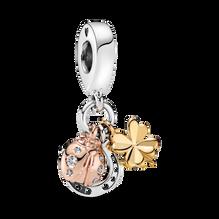 Horseshoe, Clover & Ladybug Dangle Charm
