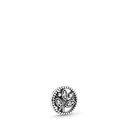 Family Heritage Petite, Clear CZ, Sterling silver, Cubic Zirconia - PANDORA - #792165CZ