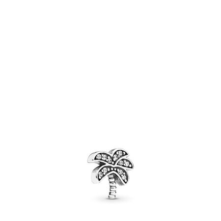 Sparkling Palm Tree Petite, Clear CZ