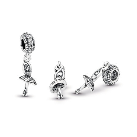 Ballerina, Clear CZ, Sterling silver, Cubic Zirconia - PANDORA - #791365CZ