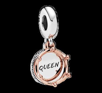 Breloque couronne royale avec l'inscription «Queen»