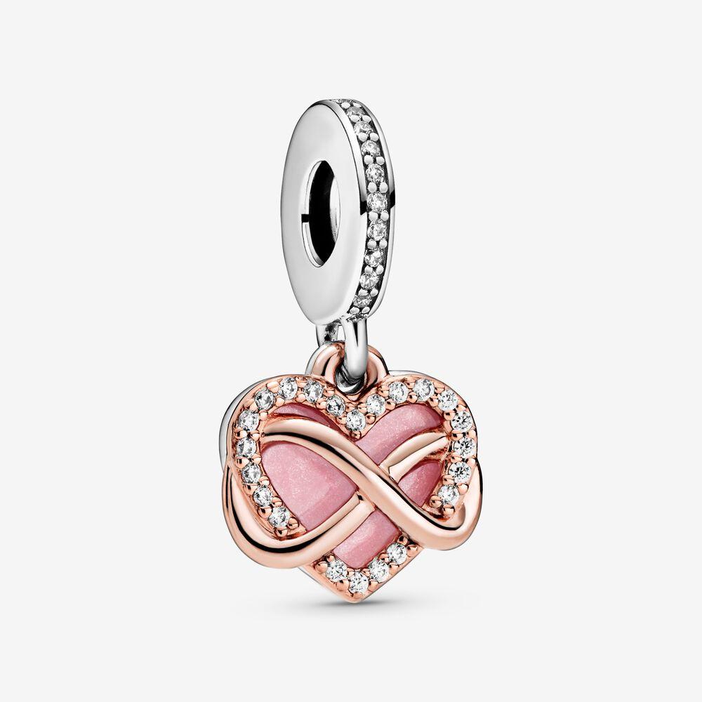 Breloque Cœur scintillant et symbole d'infini | Bicolore | Pandora ...