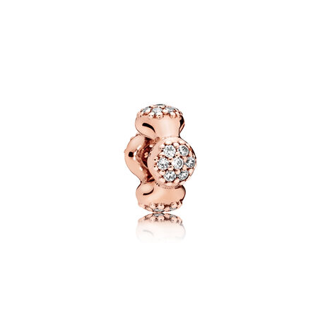Modern LovePods™ PANDORA Rose™ Spacer, Clear CZ