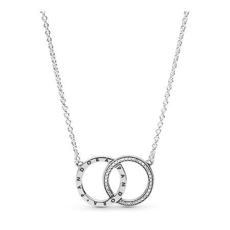 PANDORA Circles, Clear CZ, Sterling silver, Cubic Zirconia - PANDORA - #396235CZ