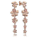 Wildflower Meadow Drop Earrings, PANDORA Rose™ & Blush Pink Crystals