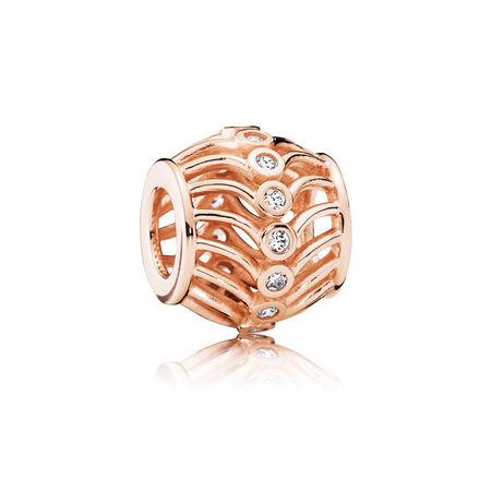 Art Deco, PANDORA Rose™ & Clear CZ, PANDORA Rose, Cubic Zirconia - PANDORA - #780001CZ