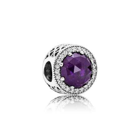 Radiant Hearts, Royal-Purple Crystal & Clear CZ
