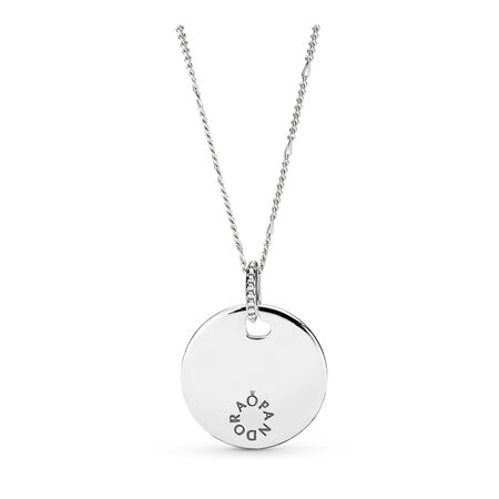Tribute Pendant Necklace, Sterling silver - PANDORA - #397122-60