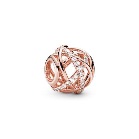 Galaxy, PANDORA Rose™ & Clear CZ, PANDORA Rose, Cubic Zirconia - PANDORA - #781388CZ