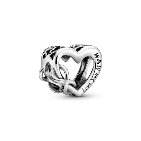 Love You Mom Infinity Heart Charm