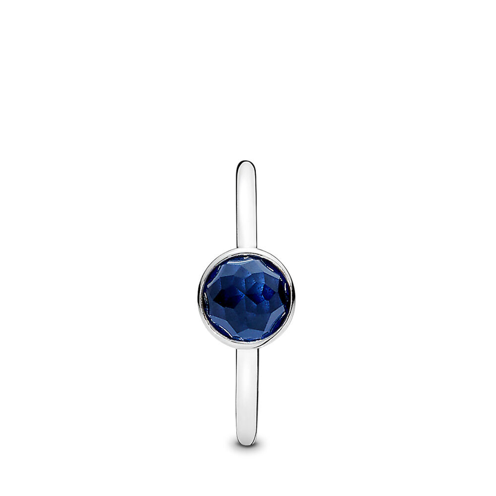 88f86bb03 September Droplet, Synthetic Sapphire, Sterling silver, Blue, Synthetic  sapphire - PANDORA -