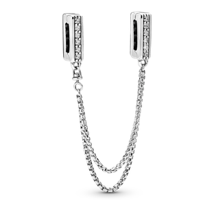 Sparkling Safety Chain Clip Charm