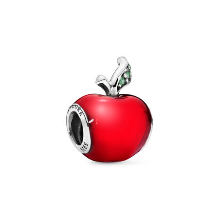 Disney, Snow White's Apple, Sterling silver, Enamel, Green, Cubic Zirconia - PANDORA - #791572EN73