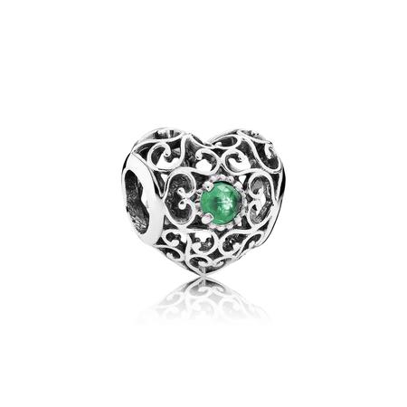 May Signature Heart, Royal Green Crystal