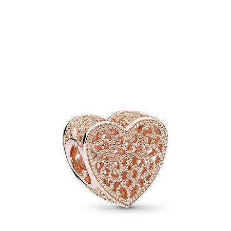 Breloque cœur filigrane et perles, PANDORA ROSE, Aucun autre matériel, Aucune couleur, Aucune pierre - PANDORA - #781811