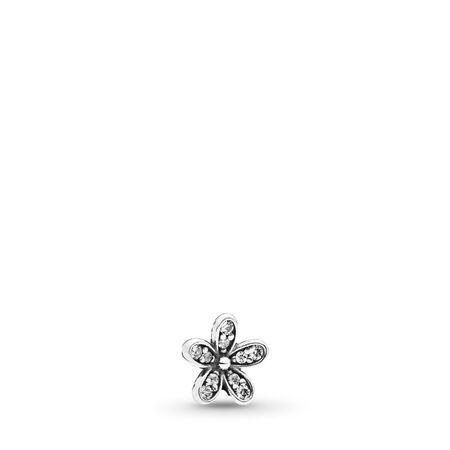 Sparkling Daisy Petite, Sterling silver, Cubic Zirconia - PANDORA - #792173CZ