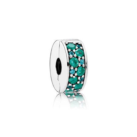 Mosaïque Élégance brillante, cristaux multicolores et cz turquoise