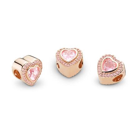 Charm Amour pétillant, PANDORA Rose et cristal rose