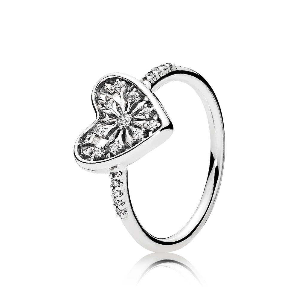 Heart of Winter Ring, Clear CZ | PANDORA Jewellery Online Store