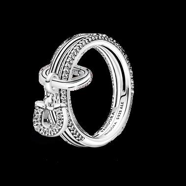 Pandora ME Lucky Horseshoe Ring Set