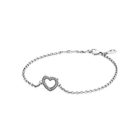 Symbole d'amour, cz incolore, Argent sterling, Aucun autre matériel, Aucune couleur, Zircon cubique - PANDORA - #590508CZ