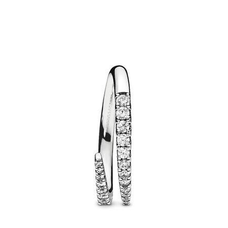 Shooting Star Ring, Clear CZ, Sterling silver, Cubic Zirconia - PANDORA - #196353CZ